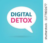 digital detox on a speech... | Shutterstock .eps vector #1177802677