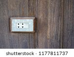 the power switch is on the wall ... | Shutterstock . vector #1177811737