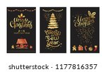 merry christmas and happy new... | Shutterstock .eps vector #1177816357