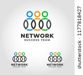 network is a successful team... | Shutterstock .eps vector #1177818427