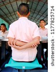 photo of thai students are arm... | Shutterstock . vector #1177825714