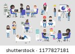 big business set. co working... | Shutterstock .eps vector #1177827181