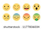 flat design vector emoticons... | Shutterstock .eps vector #1177836034