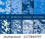 grunge set of seamless pattern... | Shutterstock .eps vector #1177844797