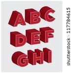 3d lettering a through i | Shutterstock .eps vector #117784615