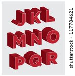 3d lettering j through r   Shutterstock .eps vector #117784621