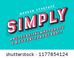 chisel crafted display font... | Shutterstock .eps vector #1177854124