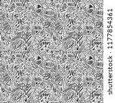 geometric doodle hand drawn... | Shutterstock . vector #1177854361