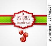 christmas card   Shutterstock .eps vector #117786217