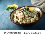 cauliflower couscous with... | Shutterstock . vector #1177862197