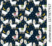 seamless  tileable llama and... | Shutterstock .eps vector #1177877917