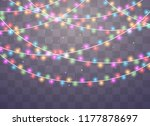 christmas lights isolated... | Shutterstock .eps vector #1177878697