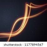 golden glowing shiny spiral... | Shutterstock .eps vector #1177894567