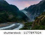 franz josef glacier in southern ...   Shutterstock . vector #1177897024