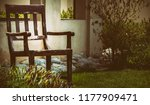 natural picture of a chair made ... | Shutterstock . vector #1177909471