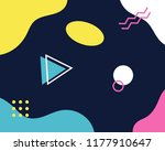 retro abstract geometric... | Shutterstock .eps vector #1177910647