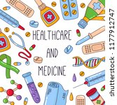 healthcare medicine colorful...   Shutterstock .eps vector #1177912747