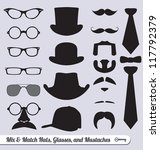 vector set  mix and match... | Shutterstock .eps vector #117792379