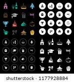 celebration icons set | Shutterstock .eps vector #1177928884