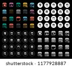 calendar icons set | Shutterstock .eps vector #1177928887