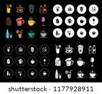 drinks icons set | Shutterstock .eps vector #1177928911