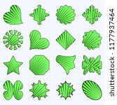 set of vector  abstract striped ...   Shutterstock .eps vector #1177937464