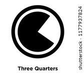 three quarters icon vector...   Shutterstock .eps vector #1177937824