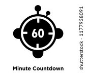 minute countdown icon vector... | Shutterstock .eps vector #1177938091