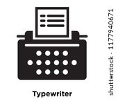 typewriter icon vector isolated ... | Shutterstock .eps vector #1177940671
