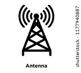 antenna icon vector isolated on ... | Shutterstock .eps vector #1177940887