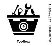 toolbox icon vector isolated on ... | Shutterstock .eps vector #1177940941