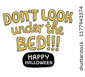 don't look under the bed ... | Shutterstock .eps vector #1177943374