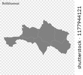 high quality map of bolikhamsai ... | Shutterstock .eps vector #1177944121