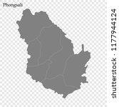 high quality map of phongsali... | Shutterstock .eps vector #1177944124