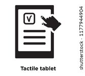 tactile tablet icon vector... | Shutterstock .eps vector #1177944904