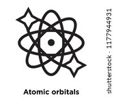 atomic orbitals icon vector... | Shutterstock .eps vector #1177944931