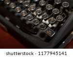antiquated type writer from the ... | Shutterstock . vector #1177945141