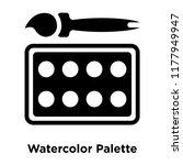watercolor palette icon vector...