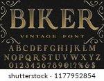 font alphabet script typeface... | Shutterstock .eps vector #1177952854
