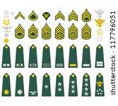 epaulets  military ranks and... | Shutterstock .eps vector #117796051