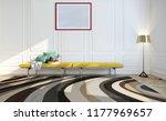 modern bright interior with... | Shutterstock . vector #1177969657