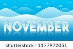 november word creative concept   Shutterstock .eps vector #1177972051