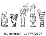 vector outline hand drawn... | Shutterstock .eps vector #1177972807