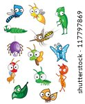 collection of insect | Shutterstock .eps vector #117797869