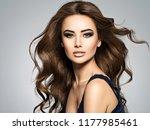 beautiful caucasian woman with... | Shutterstock . vector #1177985461
