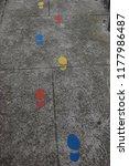 safe ways to walk to school for ... | Shutterstock . vector #1177986487