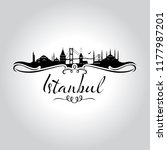 istanbul logo  icon and symbol... | Shutterstock .eps vector #1177987201