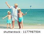 grandmother with her... | Shutterstock . vector #1177987504