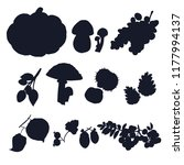 autumn crop vector silhouettes. ... | Shutterstock .eps vector #1177994137