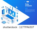 data analysis modern flat... | Shutterstock .eps vector #1177996537